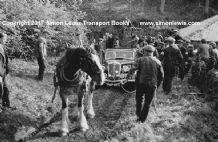 Wolsley PMP 222 (A.L.Mason?)rescued by a Horse on Costerton.Edinburgh trial 1937 . Photo (A)